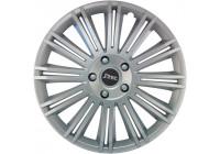 4-Piece J-Tec Wheel Cap Set Discovery 13-inch silver