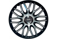 4-Piece J-Tec Wheel Cap Set Order 14-inch black + chrome ring