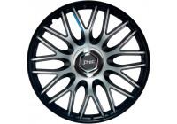 4-Piece J-Tec Wheel Cap Set Order 16-inch black + chrome ring