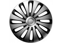 4-Piece J-Tec Wheel Cap Set Sepang 17-inch silver / black