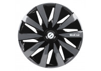 4-Piece Sparco Wheel cover set Lazio 13-inch black / gray