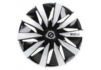 4-Piece Sparco Wheel cover set Lazio 13-inch black / silver