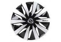 4-Piece Sparco Wheel cover set Lazio 15-inch black / silver