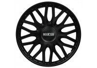 4-Piece Sparco Wheel cover set Roma 15-inch black