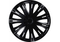 4-Piece Wheel Cover Set Spark Black 13 Inch