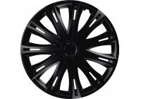 4-Piece Wheel Cover Set Spark Black 14 Inch