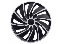 4-Piece Wheel Cover Set Turbo Van 17-inch silver/black (sphere)