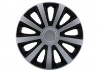 4-piece Wheelcoverset Aviator Silver & Black 14 ''
