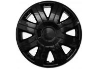 Wheel Trim Cosmos Black 14 Inch Hub Cap set of 4