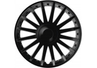 Wheel Trim Crystal Black 15 Inch Hub Cap set of 4