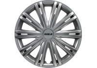 Wheel Trim Giga 15-inch silver Hub Cap set of 4