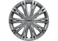 Wheel Trim Giga 16-inch silver Hub Cap set of 4