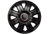 Wheel Trim Hub Caps set of 4 Cosmos Black 15 Inch