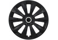 Wheel Trim Hub Caps set of 4 Delta Ring Black 13 Inch
