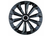 Wheel Trim Hub Caps set of 4 Fame Ring Black 13 inch