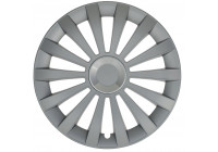 Wheel Trim Hub Caps set of 4 Meridian Ring Silver 14 Inch