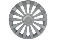 Wheel Trim Hub Caps set of 4 Meridian Ring Silver 16 Inch