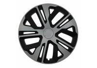 Wheel Trim Hub Caps set of 4 Raven Ring Mix Silver / Black 16 Inch