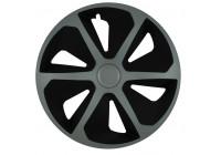 Wheel Trim Hub Caps set of 4 Roco Ring Mix Silver / Black 16 Inch