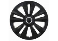 Wheel Trim Hub Caps set of 4 Terra Ring Black 14 inch