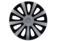 Wheel Trim Hub Caps set of 4Aviator Silver & Black 16 ''