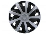 Wheel Trim Hub Caps set of 4Craft Silver / Black (Convex Rims) 16 inch