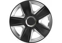 Wheel Trim Hub Caps set of 4Esprit RC Black & Silver 16 inch