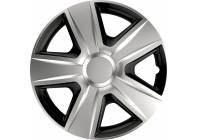 Wheel Trim Hub Caps set of 4Esprit Silver & Black 16 inch