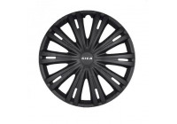 Wheel Trim Hub Caps set of 4Giga 15-inch matt black