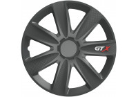 Wheel Trim Hub Caps set of 4GTX Carbon Graphite 15 inch