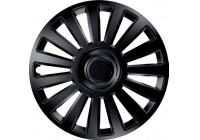 Wheel Trim Hub Caps set of 4Luxury Black 15 Inch