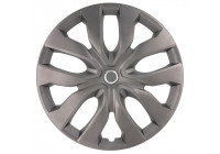 Wheel Trim Hub Caps set of 4New York 17-inch Matt Gunmetal