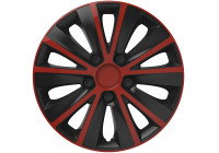 Wheel Trim Hub Caps set of 4Rapide Red & Black 13 inch