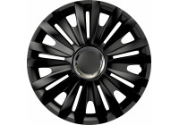Wheel Trim Hub Caps set of 4Royal RC Black 15 inch