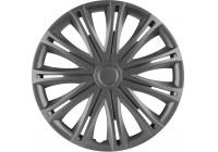 Wheel Trim Hub Caps set of 4Spark Graphite 16 Inch