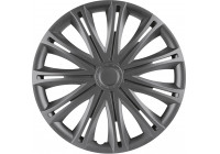 Wheel Trim Hub Caps set of 4Spark Graphite 17 Inch