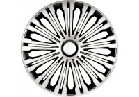 Wheel Trim Hub Caps set of 4Volante 17-inch silver / black