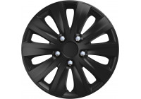 Wheel Trim Rapide NC Black 14 inch Hub Cap set of 4