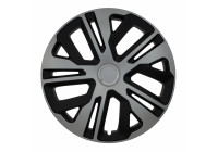 Wheel Trim Raven Ring Mix Silver / Black 15 Inch Hub Cap set of 4