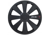 Wheel Trim RS-T 14-inch black Hub Cap set of 4