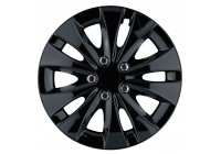 Wheel Trim Storm X Black 15 inch Hub Cap set of 4
