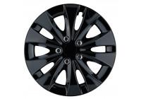 Wheel Trim Storm X Black 16 inch Hub Caps set of 4