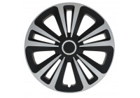 Wheel Trim Terra Ring Mix Silver / Black 16 Inch Hub Cap set of 4