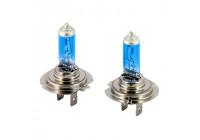 Lampes halogènes SuperWhite Blue H7 55W / 12V / 4200K, jeu de 2 pièces (E13)