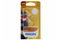 Philips 12961B2 W5W T10 base de données d'autoroute Premium 12V - 2 pièces