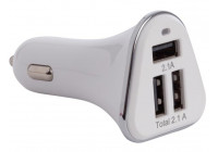 Billaddare med 3 USB-portar (5 VDC - 4,2 A) - 21 W max.