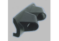 Gauge Hållare Universal 2 hål svart ABS