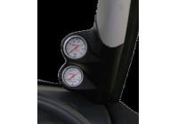 RGM A-pelare Mount höger - 2x 52mm - Peugeot 206 CC plus -. Svart (ABS)