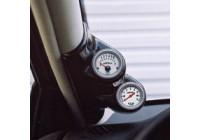 RGM A-pelare Mount vänster - 2 x 52mm - Peugeot 306 - svart (ABS)