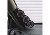 RGM A-pelare Mount vänster - 3 x 52mm - Volvo 850 / S70 / V70 - Svart (ABS)